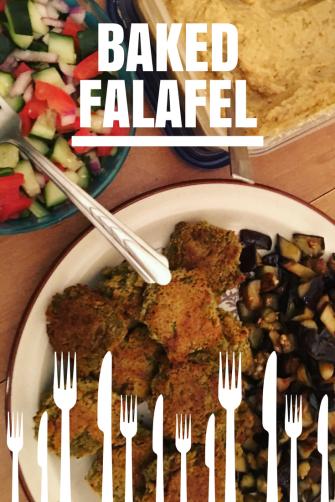 Baked homemade falafel
