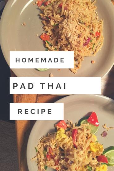 Vegan homemade pad thai recipe